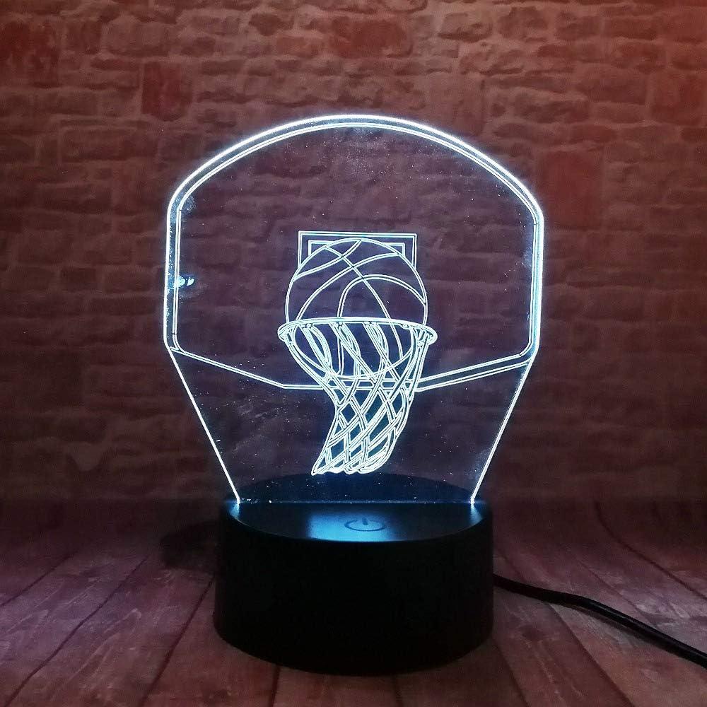 orangeww Lámpara de ilusión visual 3d / 7 luces nocturnas de ...