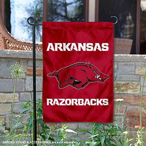 (College Flags and Banners Co. Arkansas Razorbacks Garden Flag )