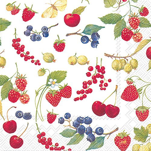 Napkins Fruit - Ideal Home Range 20 Count Fruits Of Summer Paper Luncheon Napkins
