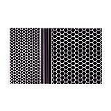 RydeSafe Reflective Decals Hexagon+ Kit, Black