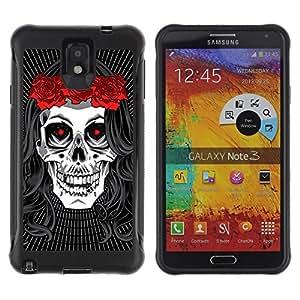 """Pulsar iFace Series Tpu silicona Carcasa Funda Case para SAMSUNG Galaxy Note 3 III / N9000 / N9005 , La muerte de la novia de la guirnalda de la música rock metal"""""""