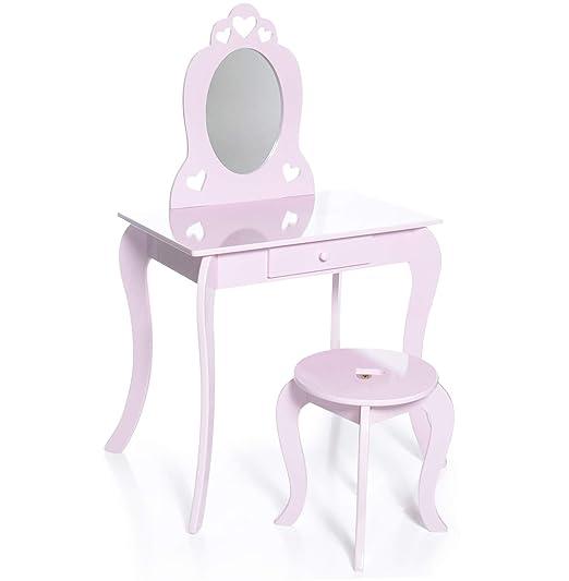 Milliard Coiffeuse Pour Filles Avec Tabouret Et Miroir