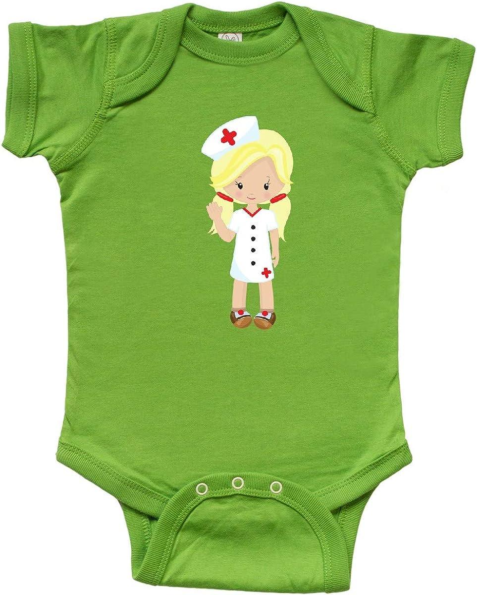 Nurse inktastic Cute Girl Blonde Hair Nurse Uniform Infant Creeper