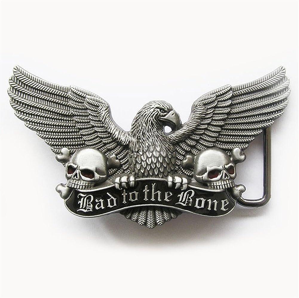 New Vintage Enamel Eagle Skull Belt Buckle BUCKLE-3D042 also Stock in US
