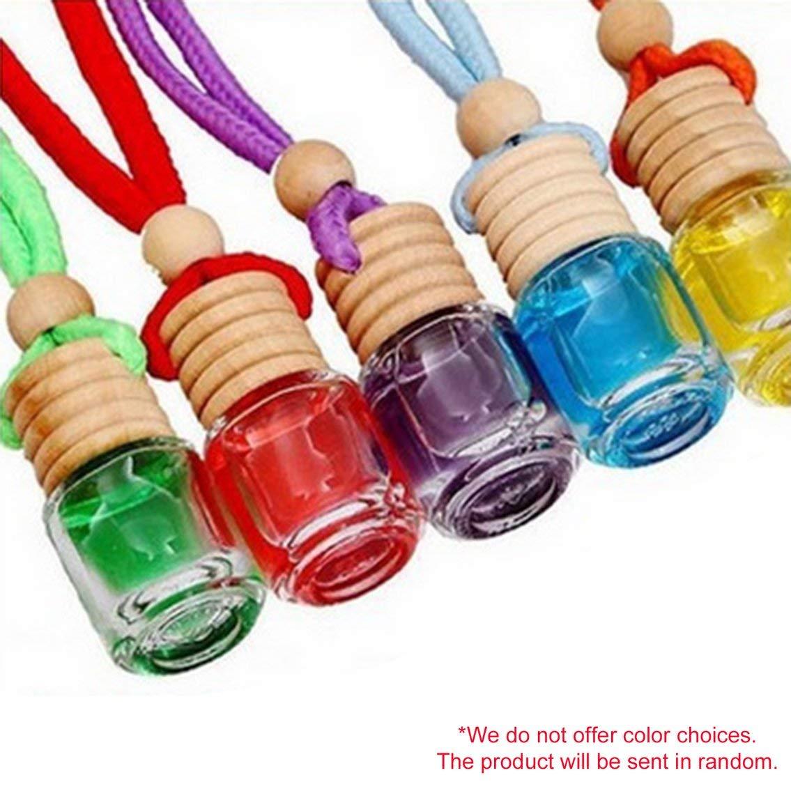 Mazur 8ml de Voiture Ornements Parfum diffuseur d'huile Essentielle d'arome de Parfum attachez Le Bracelet Bouteilles en Verre désodorisant Accessoires de Style d'automobile (aléatoire)