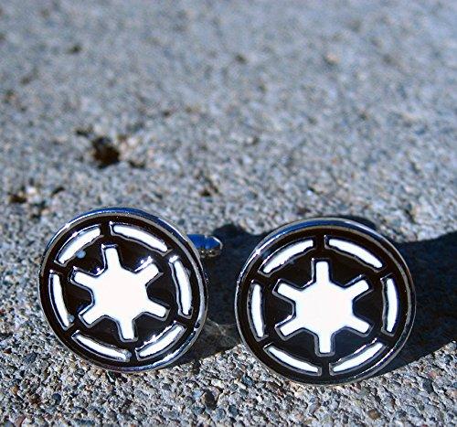 Star Wars Imperial Empire men's Jewelry Wedding Party Stainless Steel Cufflinks Cuff Link by Preciastore by preciastore