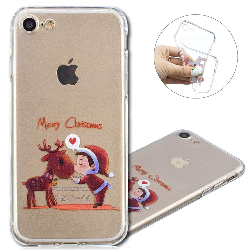 iPhone 6 Case, COTDINFORCA Merry Christmas Series Clear Soft Flexible Gel TPU Silicone Ultra-Thin Slim Fit Case Cover iPhone 6S / iPhone 6. Christmas TPU- Christmas Tree