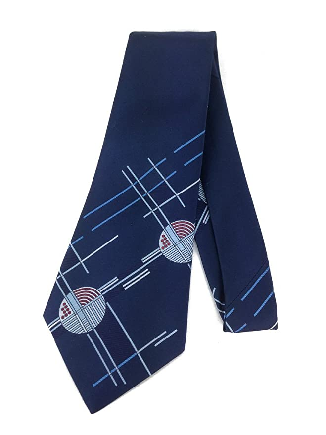 History of 1920s Mens Ties, Neckties, Bowties Geometric Abstract Vintage Tie - Jacquard Weave Wide Kipper Necktie $25.95 AT vintagedancer.com