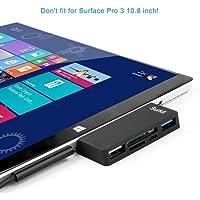 Ocamo para Microsoft Surface Pro 3/4 DE Alta Velocidad USB 3.0 Transporte y USB 2.0 para Mouse o Teclado con Ranura para Tarjeta SD (HC) y Lector de Tarjetas TF