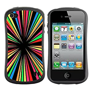 fashion Case for Apple iPhone 5s for kids / Crazy Colors