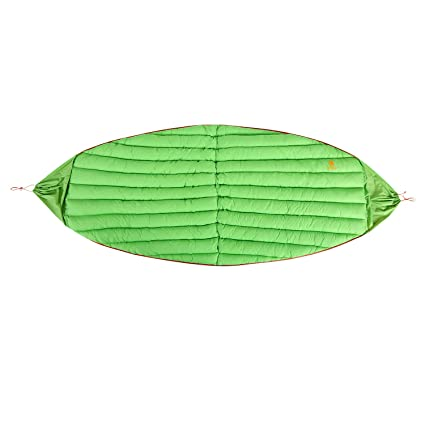 Onetigris Winter Hammock Under-quilt Goose Down Full Length Hammock Underquilt Under Blanket 23 F To 1.4 F Sleeping Bags -5 C To -17 C