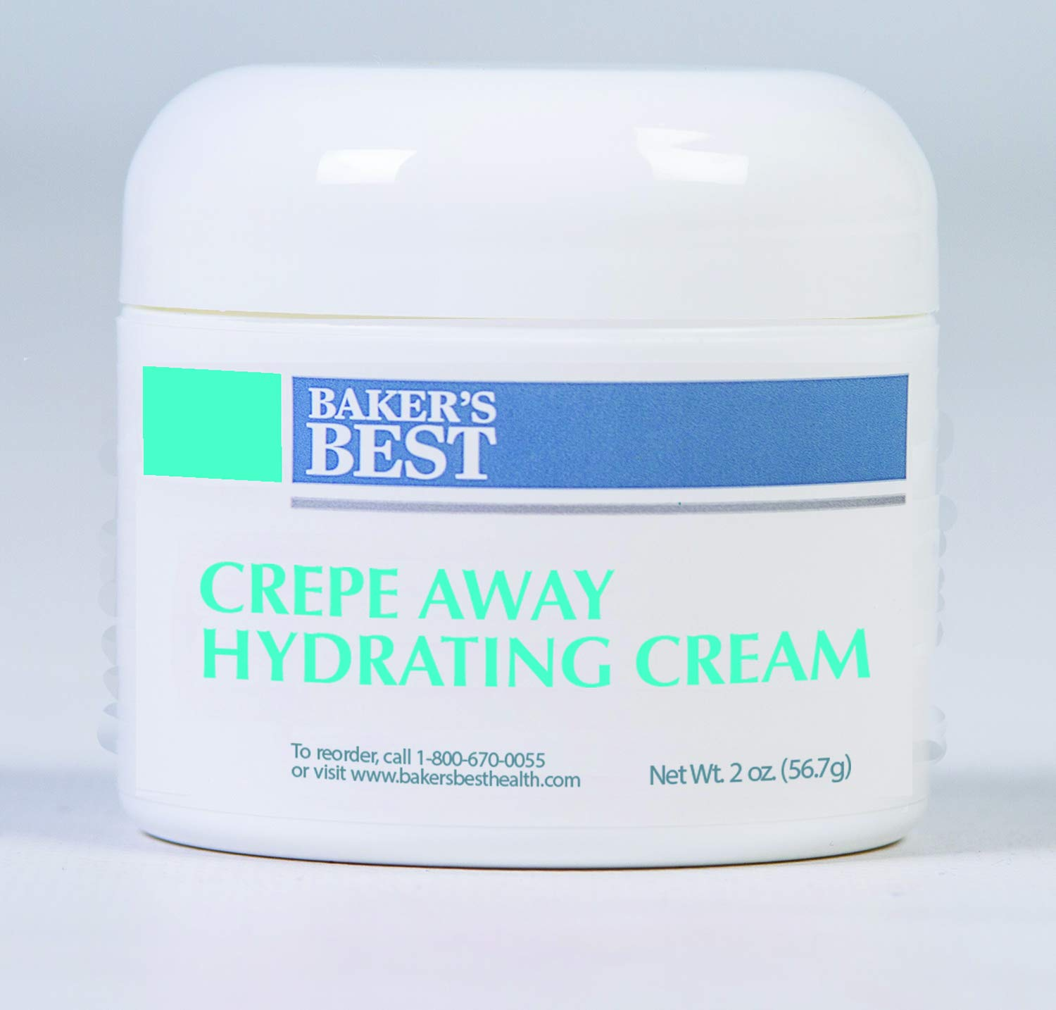 Baker's Best Crepe Away Cream – Smooths, firms, tightens and tones saggy, crepey, crinkly skin, anti-aging, boosts collagen for neck, chest, arms, legs, thighs, and buttocks – 2oz luxury cream