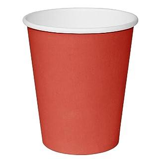 Paquete de: 50 Vasos de café para llevar rojos Fiesta 228ml x50
