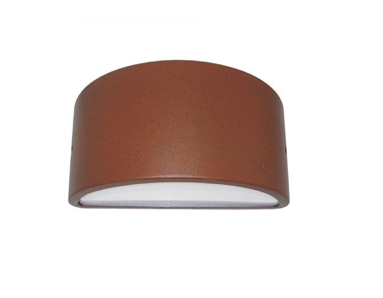 Applique per esterno design curvo corten e led ip balcone