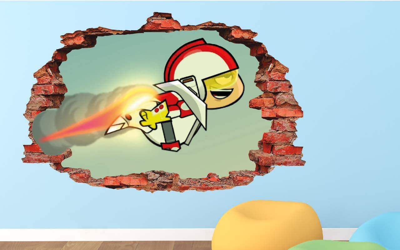 Amazon.com: Calcomanía de vinilo para pared con diseño de Kick Buttowski  Flying Fire 3D – Custom Your Photo – ORIA52: Home & Kitchen