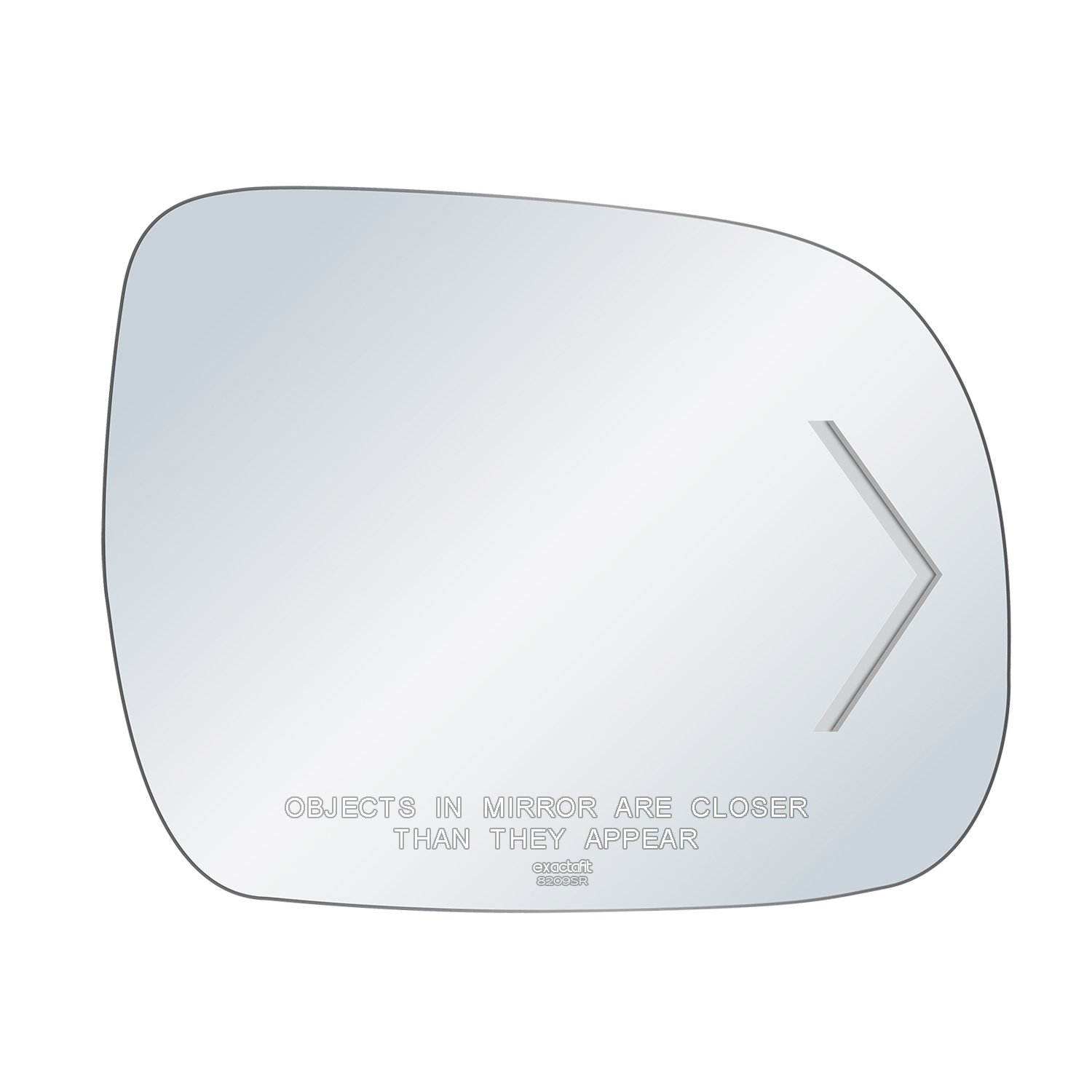 exactafit 8209SR Replacement Passenger Right Side Power Mirror Glass with Signal Cut-Out Convex Lens fits 2006-2010 Toyota Sienna by Rugged TUFF