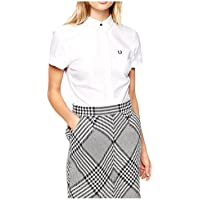 Fred Perry - Camisa Mujer Fred Perry Blanca Algodon Pique - XS, Blanco