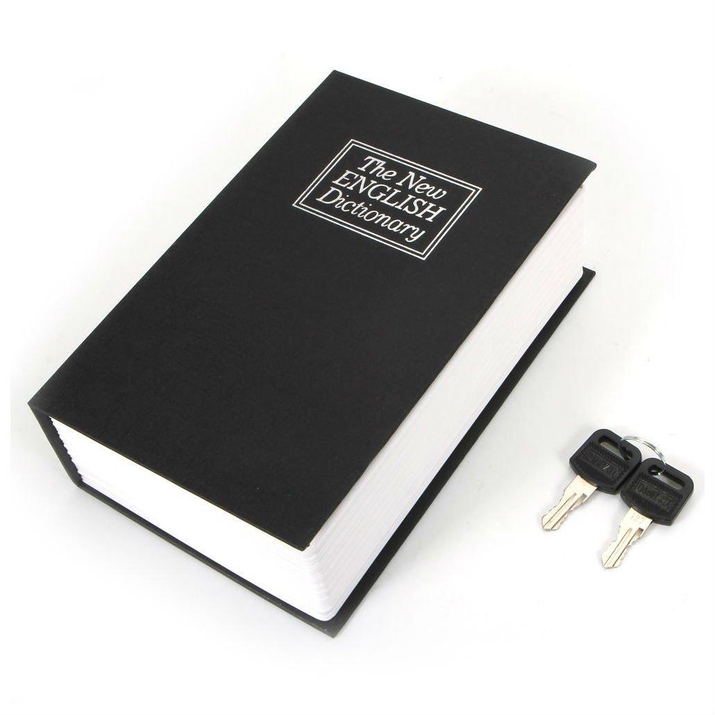 新しいブラック辞書Secret Book Hidden Safeお金ボックスホームセキュリティキーロック B076YTD6TR