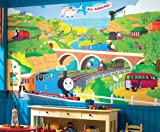 RoomMates YH1418M Thomas the Tank Prepasted Chair Rail Mural, 6 by 10.5-Foot