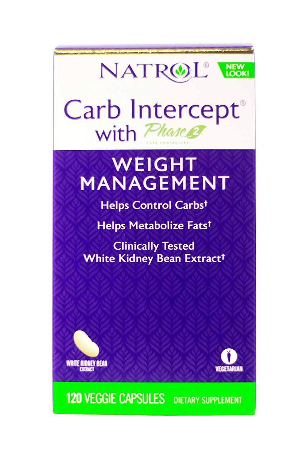 Natrol Carb Intercept with Phase 2 Starch Neutralizer, 120 Capsules (Pack of 2)
