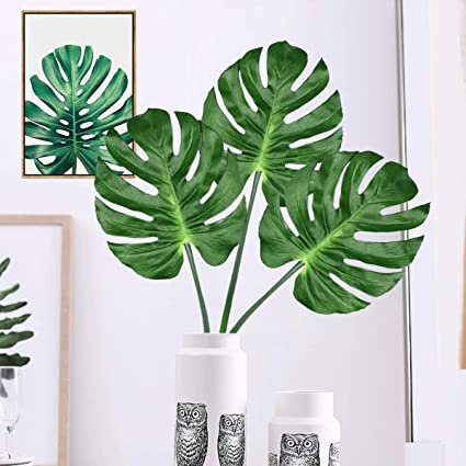Yinhua Pack Of 2 Artificial Monstera Leaves Table Decoration Accessories  Party Decorations