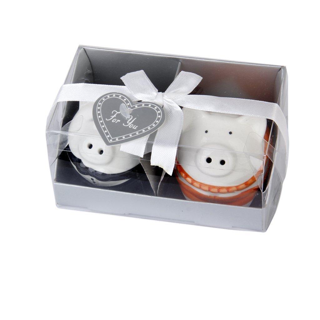 Amazon.com: Couple Pigs Salt and Pepper Shaker For Wedding Favors ...