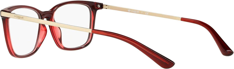 Eyeglasses Vogue VO 5224 2636 TOP TRANSP BORDX//TRANSP RED