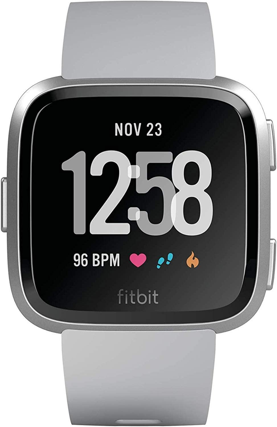 Amazon.com: Fitbit Versa Smart Watch, Gray/Silver Aluminium, One Size (S & L Bands Included)