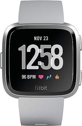 Fitbit Versa Lite Smartwatch One Size S /& L Bands Charcoal//Silver Aluminum