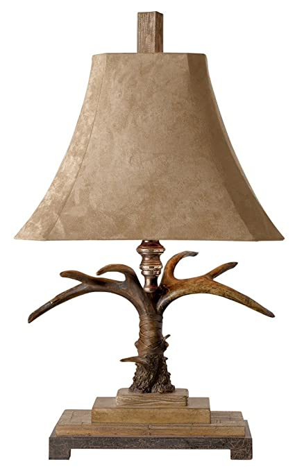 Uttermost 27208 Stag Horn Table Lamp, 12.0u0026quot; X 18.5u0026quot; ...