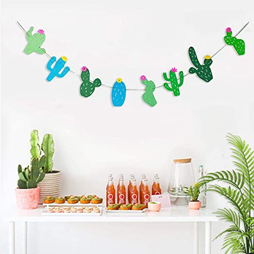 2 UNIDS Banners de Cactus Garland Cactus Suministros de ...