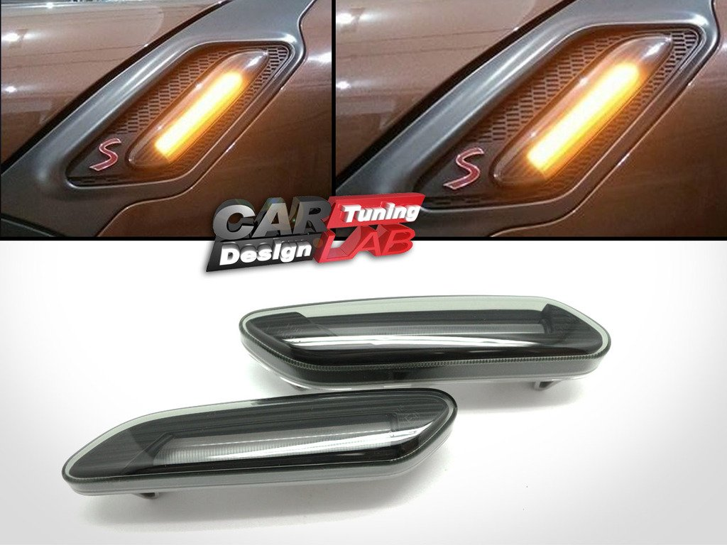 (2) Smoke LED Indicator Turn Signal Lights Side Marker Lamp For Countryman R60 S Paceman R61 CarLab