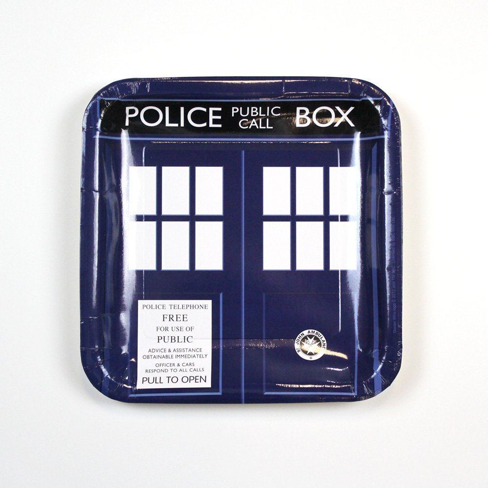 Underground Toys Doctor Who Large Party Plates, Set of 8 Se7en20