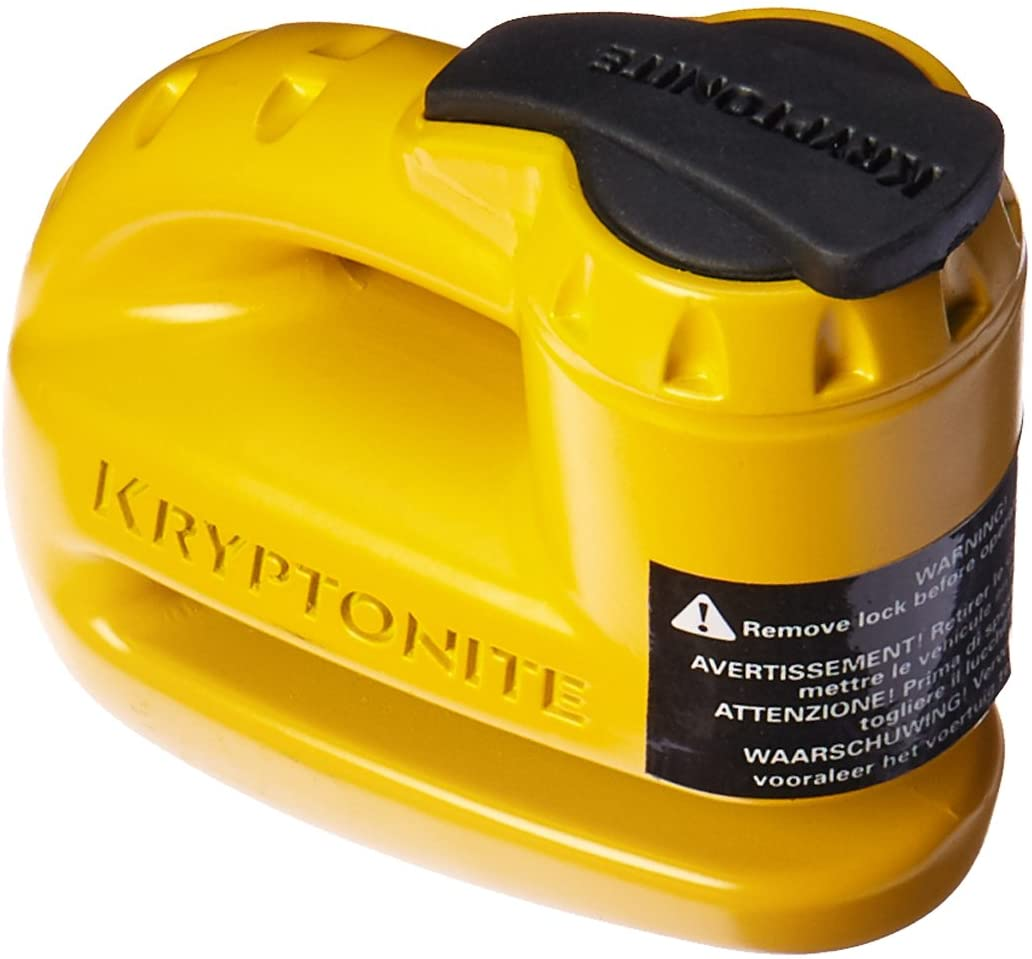 Kryptonite 000884 Keeper 5s Yellow Disk Lock