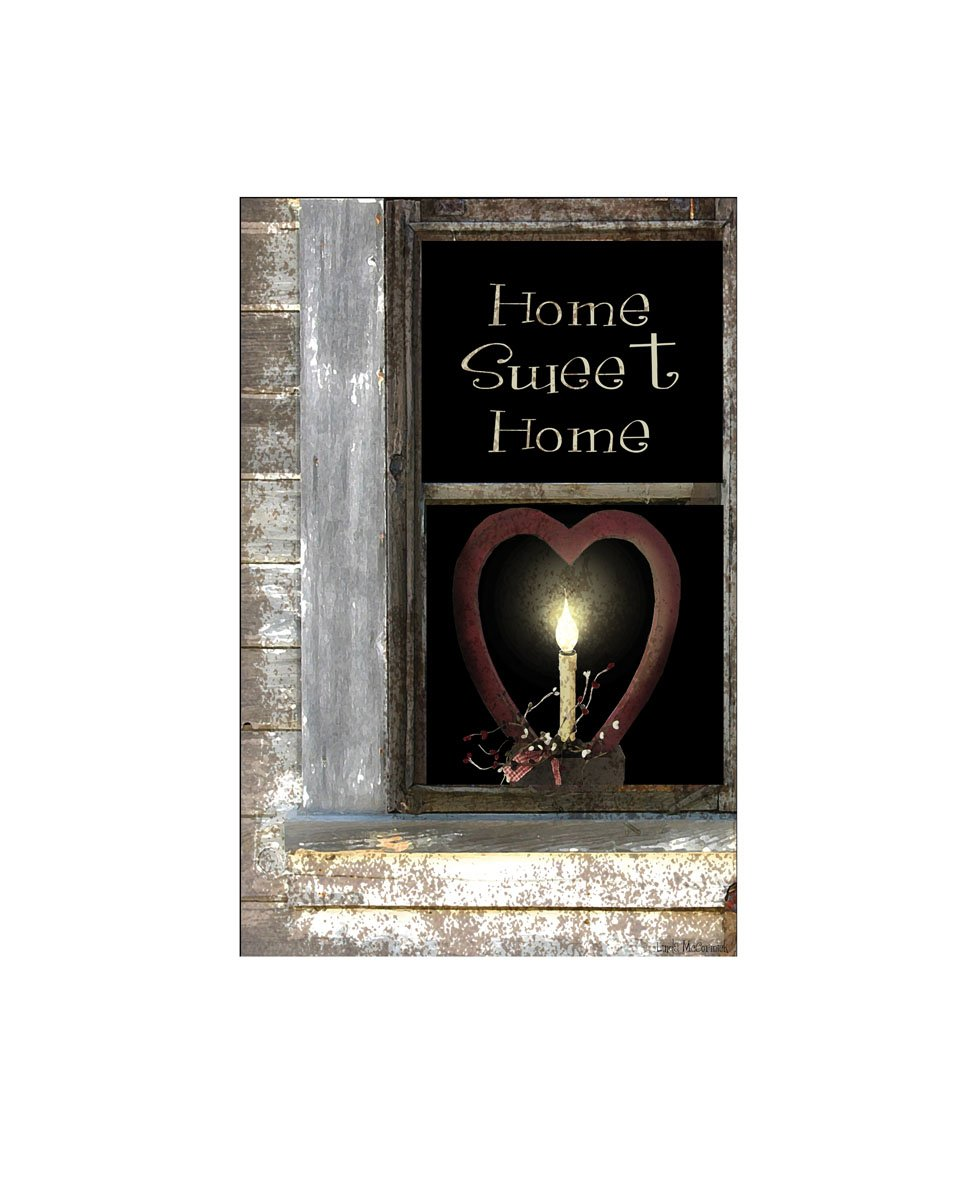 led lighted home sweet canvas wall art decor rustic 17 x 11 gift picture new ebay. Black Bedroom Furniture Sets. Home Design Ideas