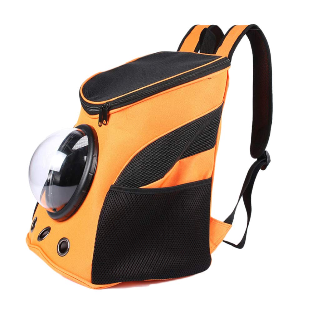 orange depth35cm orange depth35cm CTAO Portable Pet Travel Carrier Backpack For Cats Small Medium Dogs Pets Larger Space Capsule Breathable 25  31  35cm,orange-depth35cm