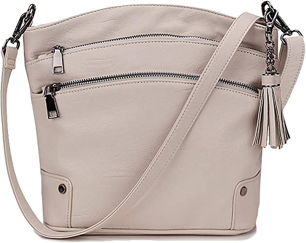 Women Girls Tassel Purse Shoulder Handbag Tote Messenger Satchel Cross Body Bags