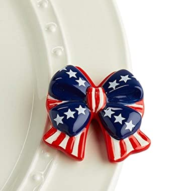 Nora Fleming Independence Bow Mini A192 Patriotic Flag Bow