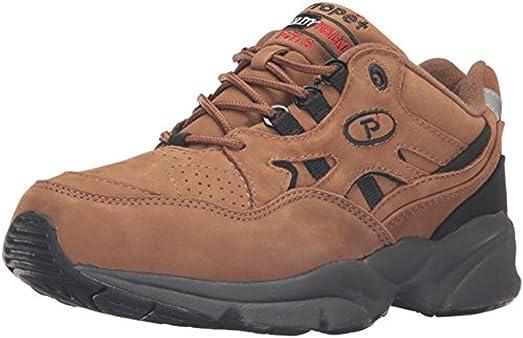 Propet Men's Stability Walker Shoe Choco / Black Nubuck 10.5 X (3E) & Cleaner