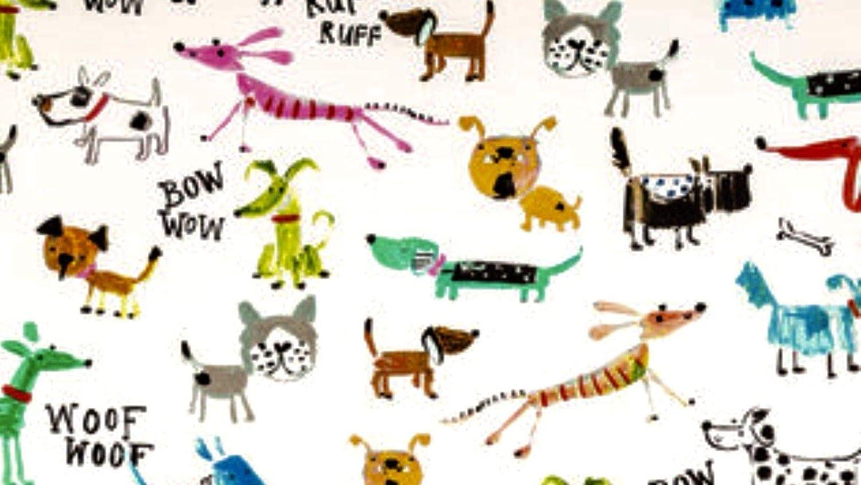 Cute Doggie Dogs Puppy Valance Sale Cotton Window Curtain Treatment 43W x 15L