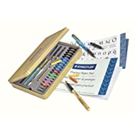 STAEDTLER calligraphy pen set, Complete 33 piece tin, ideal for all skill levels, 899 SM5,Assorted