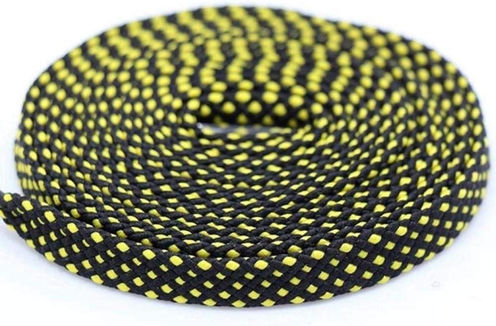 Noir jaune 1 paire lacet Mode Polyester Sneaker Chaussure Dentelle Couleurs /À Carreaux Double Couche Creux Plat Lacets 100//120 Chine 140CM PD1