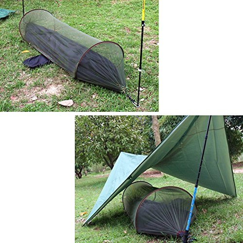 Portable mosquito net hammock rope saver straps oumers for Net hammock bed