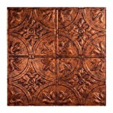 Fasade Easy Installation Traditional 2 Moonstone Copper Lay In Ceiling Tile / Ceiling Panel (2' x 2' Tile) by Fasade