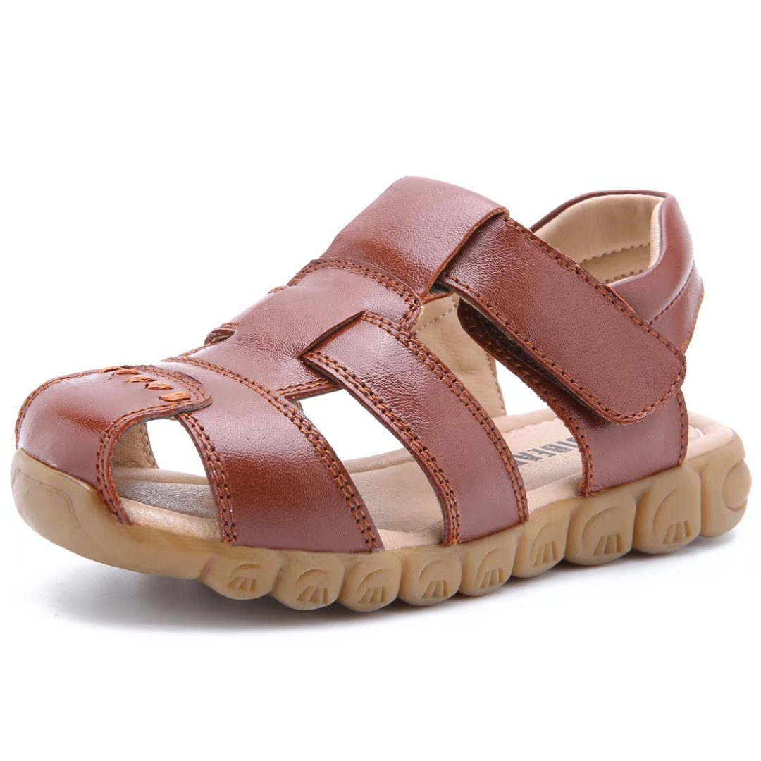 Boys Outdoor Closed Toe Leather Sandals(Toddler/Little Kid) 1KGU3551