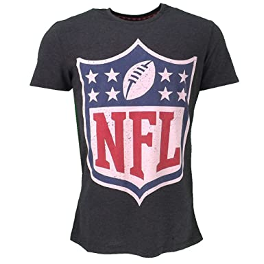 NFL Logo T-shirt Grey Official Licensed Sport  Amazon.co.uk  Clothing c8531f2ee
