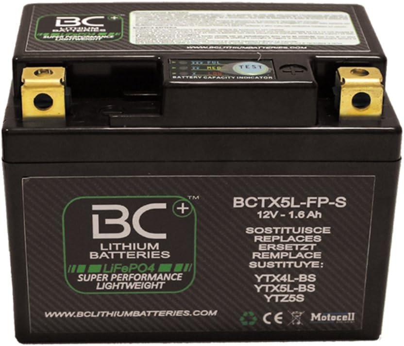 BC Lithium Batteries BCTX5L-FP-S Batería Litio para Moto LiFePO4 HJTX5L-FP-S / YTX4L-BS / YTX5L-BS / YTZ5S