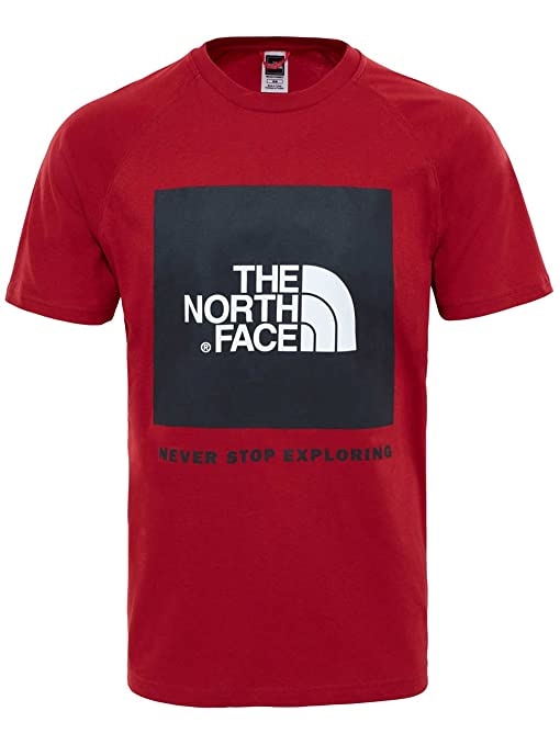 d0aa9de5d8 The North Face T92zwz, Red Box T-Shirt Raglan Uomo