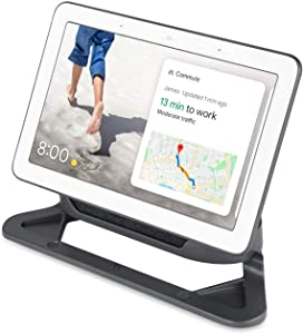 [Official Made for Google] Wasserstein Adjustable Stand Compatible with Google Nest Hub - Perfect Companion for Your Nest Hub (Charcoal)