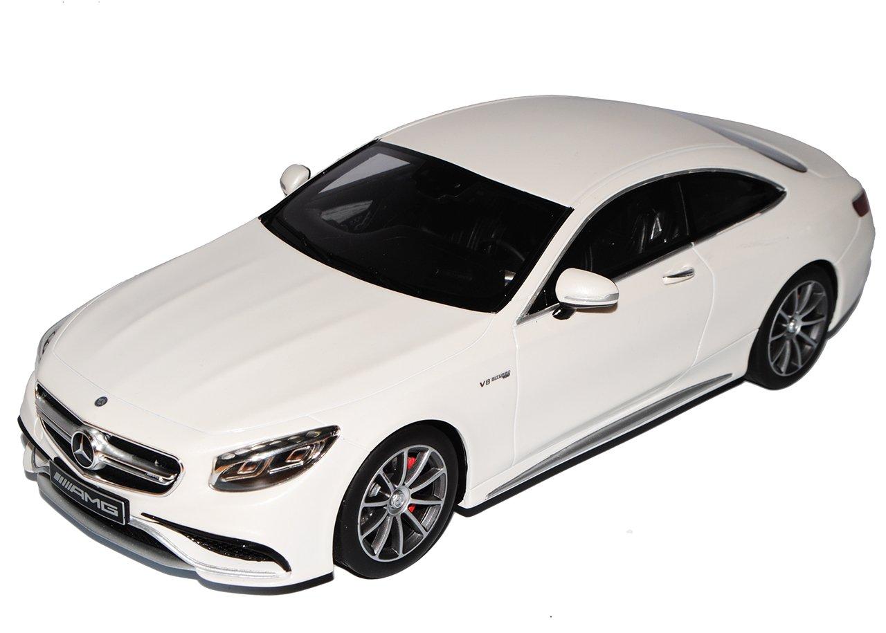 GT Spirit Mercedes-Benz S-Klasse S63 S63 S63 AMG Coupe C217 Diamant Weiss Ab 2014 1/18 Modell Auto mit individiuellem Wunschkennzeichen 5d6b7a